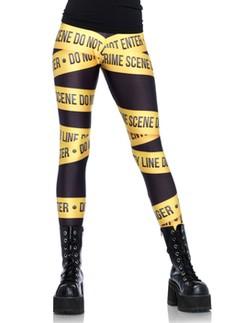Leg Avenue Crime scene leggings