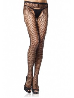 Leg Avenue Industrial Crotchless Fishnet Tights