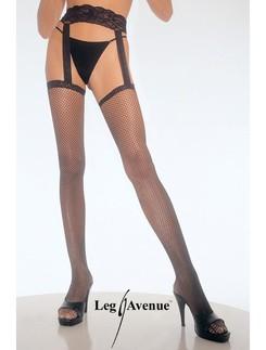 Leg Avenue Fishnet Garterbelt Stockings