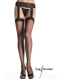 Leg Avenue Sheer Lace Top Suspender Tights
