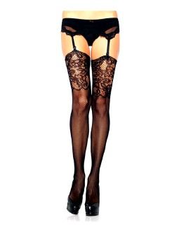 Leg Avenue Jacquard Lace Stockings