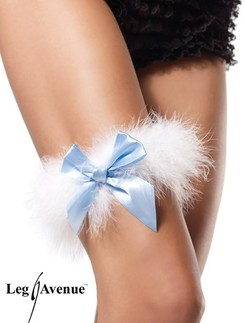 Leg Avenue Marabou Wedding Garter