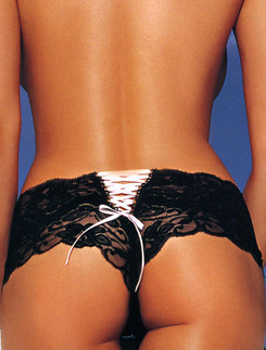 Leg Avenue Butterfly Lace Up Tanga Panty