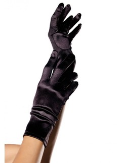 Leg Avenue Satin Wrist Length Gloves