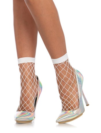 Leg Avenue Diamond Net Net Anklets black