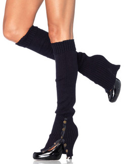 Leg Avenue Leg Warmers with Button Side
