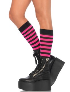 Leg Avenue striped Knee-highs