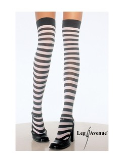 Leg Avenue Plus Size  striped over the knee