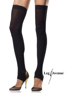 Leg Avenue opaque stirrup thigh highs
