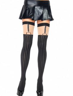 Leg Avenue Opaque Pinstripe Stockings