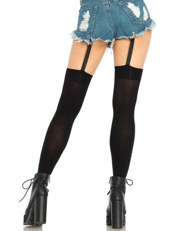 Leg Avenue Tigh Highs with attached Clip Garter black