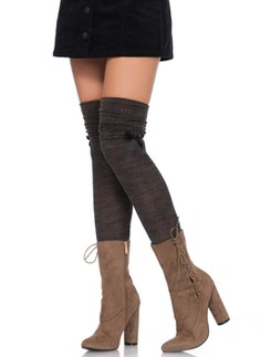 Leg Avenue brown/green Over the knee scrunch sock