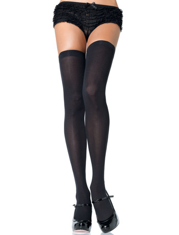 Leg Avenue Opaque Nylon Hold-Ups black