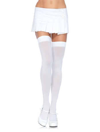 Leg Avenue Opaque Nylon Hold-Ups white