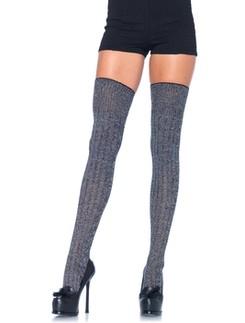 Leg Avenue Heather Rib Knit Thigh Highs