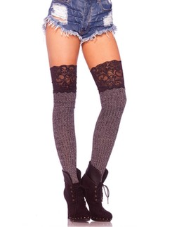 Leg Avenue Ribbed knit knee slouch socks