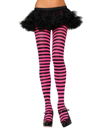 Leg Avenue opaque Striped Tights black/fuchsia