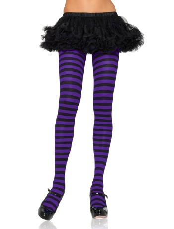 Leg Avenue opaque Striped Tights black-blue