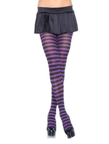 Leg Avenue Opaque Plus Size Tights black-purple