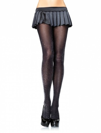 Leg Avenue Lurex tights lurex black silver