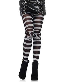 Leg Avenue Striped Skull Illusion Tights