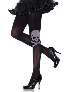 Leg Avenue Skull & Crossbone Opaque Tights
