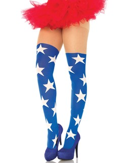 Leg Avenue Superstar Costume Tights