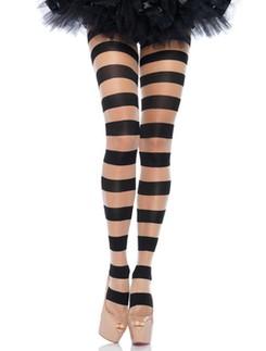 Leg Avenue Striped Opaque Tights