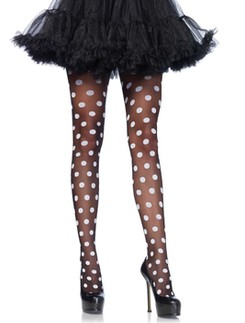 Leg Avenue Sheer Polka Dot Pantyhose