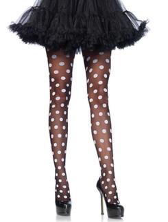 Leg Avenue Sheer Polka Dot Pantyhose