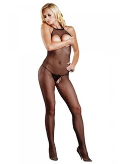 Leg Avenue Peek-A-Boo seamless Fishnet Bodystocking