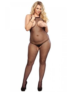 Leg Avenue Peek-A-Boo Plus Size Fishnet Bodystocking