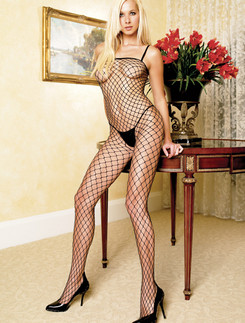 Leg Avenue  Industrial Net Spaghetti Strap Bodystocking