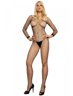 Leg Avenue Long Sleeve Industrial Fishnet Bodystocking