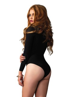 Leg Avenue opaque long Sleeve Bodysuit