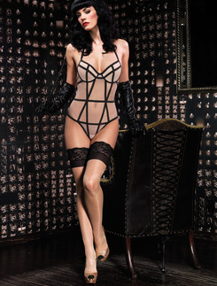 Leg Avenue Padded Underwire Mesh Teddy