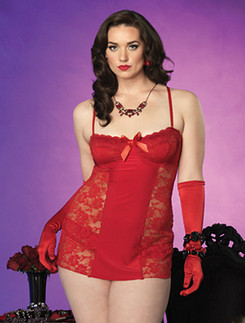 Leg Avenue Lace Chemise and Panties
