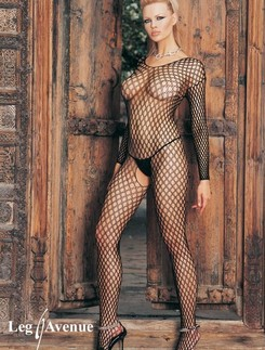 Leg Avenue Seamless  Ring Net Bodystocking