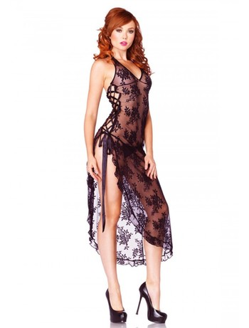 Leg Avenue Negligee With G-String black
