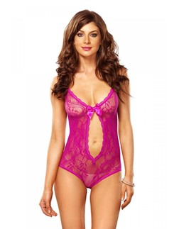Leg Avenue Keyhole Cut Out Lace Teddy