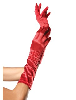 Leg Avenue Satin Elbow Length Gloves