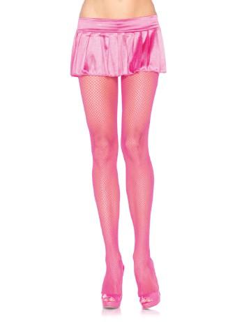 Leg Avenue fine Mesh Fishnet Tights neon pink