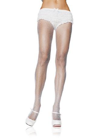 Leg Avenue Plus Size fine Mesh Fishnet Tights white