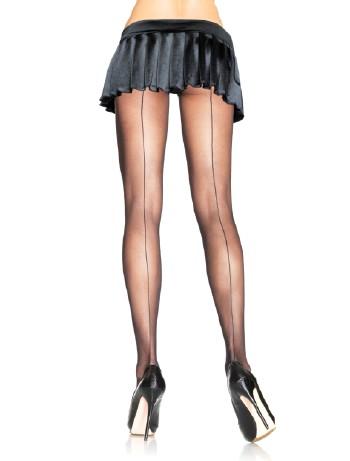 Leg Avenue Sheer Backseam Pantyhose black