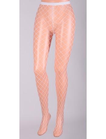 Leg Avenue Diamond Fishnet Pantyhose white
