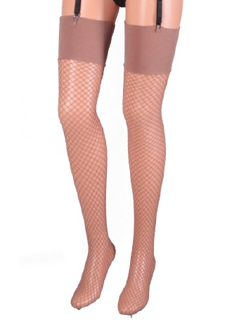 Leg Avenue Industrial Fishnet Stockings nude