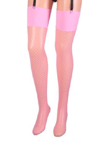 Leg Avenue Industrial Fishnet Stockings pink