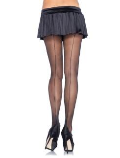 Leg Avenue Spandex Sheer Cuban Heel Backseam Pantyhose