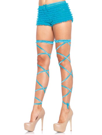 Leg Avenue Leg Garter Wrap Set neon blue