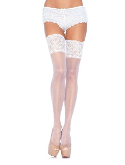 Leg Avenue Plus Size Hold-Ups with Lace Tops